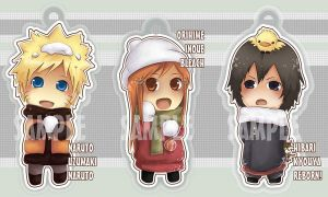 Chibi keychains by Quiss