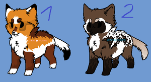 Two little puppy adoptables (CLOSED) by Paintlicious