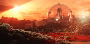 Gallifrey from Mount Perdition by Lupus-deus-est