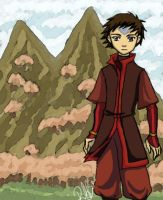 Into the Fire Nation -  Aang by river-bird
