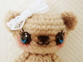 sweet posable ami bear face by hellohappycrafts