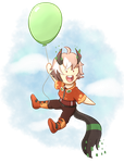 YCH: up up and away Kimitsu Fairu by foxhat94