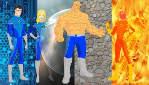 Fantastic 4 Powers with background by MOMOpJonny