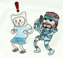 ADVENTURE TIME Finn and Snake by DoctorButler