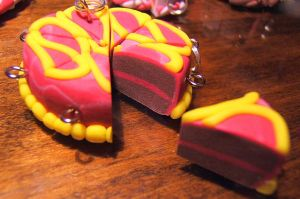 pink and yellow cake by Jadetiger