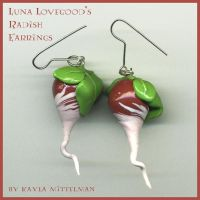 Luna's Radish Earrings by Keira-Sama