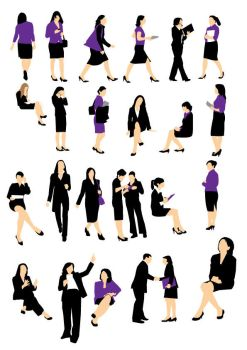 Businesswoman silhouette by parka