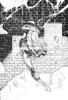 Spider-Man cover pencil by fragcomics