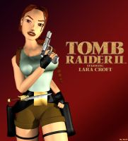 Tomb Raider 2 Cover (Re-rendered) by Roli29