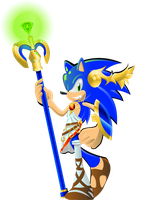Sonic the god of...Chaos? fan submission by fireshadM