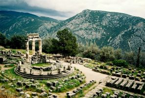 The Tholos Of Delphi by LordXar