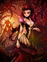 League of Legends Fan Art - Zyra by WaterRing