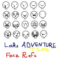 ADVENTURE TIME FACE REFS by Lady-of-Ratatosk