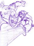 Link and Moblin by compscisketcher