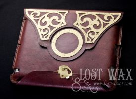 Steampunk Ipad Case by Lostwaxoz