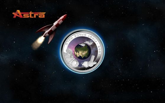 First man to walk in space, wallpaper for Astra by WalentyWalewski