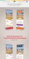 My Travel Roll Up Banner by Saptarang