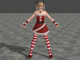 DOA5U Marie Rose Santa's Helper costume by zareef
