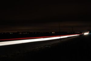 Light trails5 by VolcanicDom