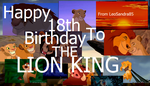 HAPPY BIRTHDAY TO THE LION KING! by LeoSandra85
