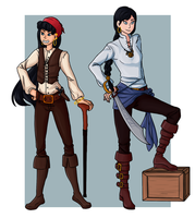 Pirate Babes by airquotes