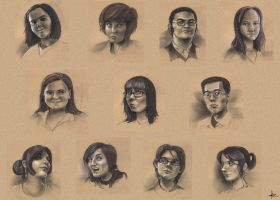 portrait sketches by 47ness