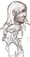 random Sandor and Sansa by hedgehog-in-snow