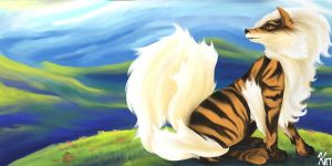 Arcanine -- Instance One by Luminosion