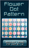 6 GIMP Flower Dot Patterns by el-L-eN