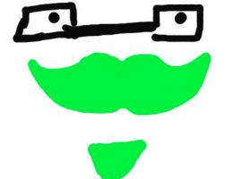 Green moustache with hipster glasses and goatee XD by narwhalpoo