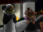 +AT+ Sorry i'm late Dhari. by Spottedfire-cat