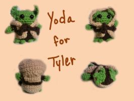 Crochet Yoda by Saekoi