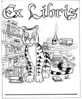 Exlibris01 - Guardian Tiger by PaulEberhardt