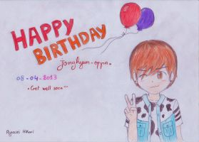 Happy birthday Jonghyun by RyuuseiHikari