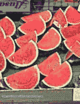 pixelized Melons by Bulldoggenliebchen