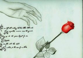The Rose with poem by cultureplasticart