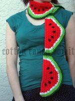 Watermelon Scarf by cottoncandyvomit