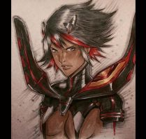 Ryuko Matoi Copic Sketch by MassoArt
