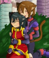 Gift for Lady (Neko jul and Miaka :3) by Quote-J