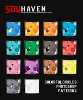 Colorful Circles Photoshop Patterns by sdwhaven