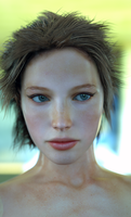 Again, testing SSS and hair shader together. by MaskDemon