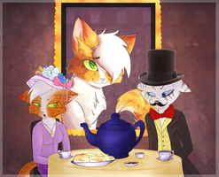 Tea Party by Bluefire-kitteh
