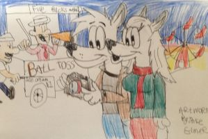 Gift: Justin and Mika at the fair by Fox-Jake