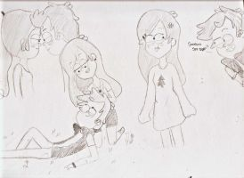 Pinecest doodles by SickLovelyPerson