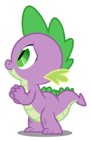 MLP:FIM - Vector #15 - Spike by DashieSparkle