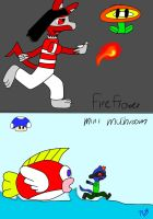FireNick and MiniSarah by AuraMaster-Lucario