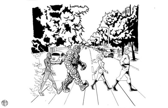 Fantastic Four - Abbey Road - INKS by Theamat