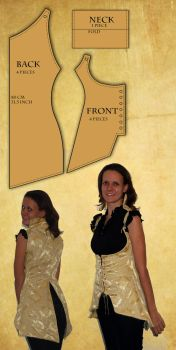Reversible Corset Vest pattern and tutorial by Sindeon