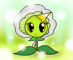 Poppy the Dandelion by PoppyWolfMoon