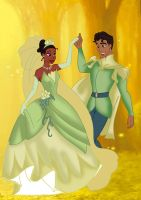 Tiana and Naveen by Applefied
